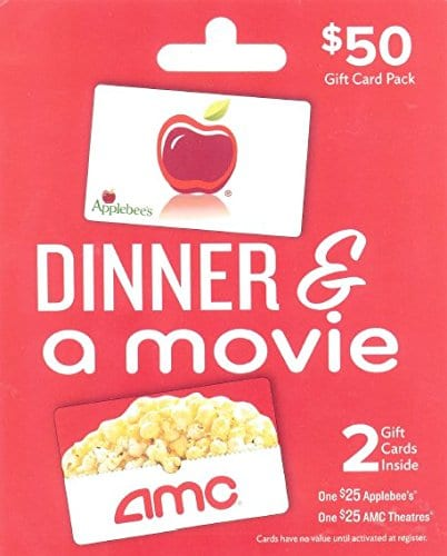 AMC dinner & a movie gift card