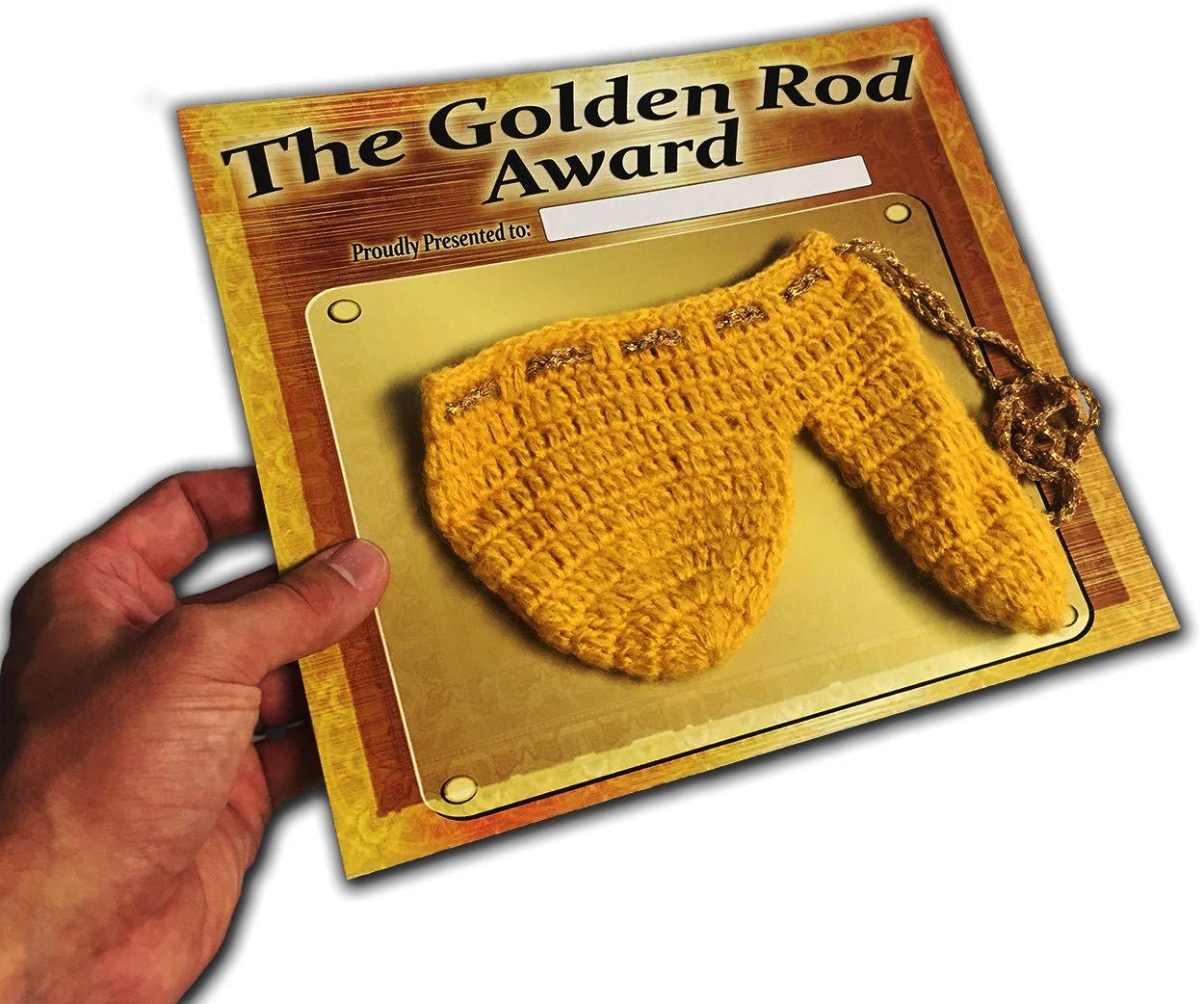 the golden rod award knit wiener warmer