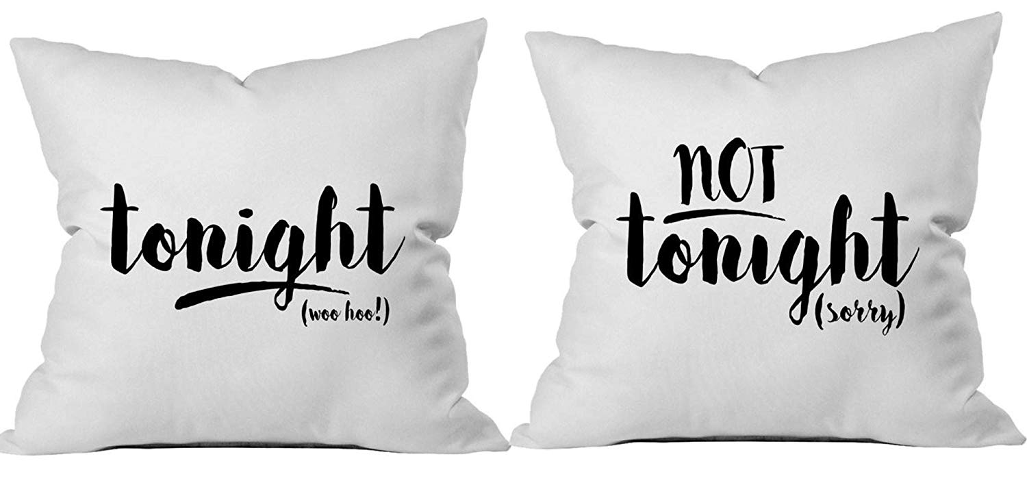 tonight not tonight reversible throw pillow case