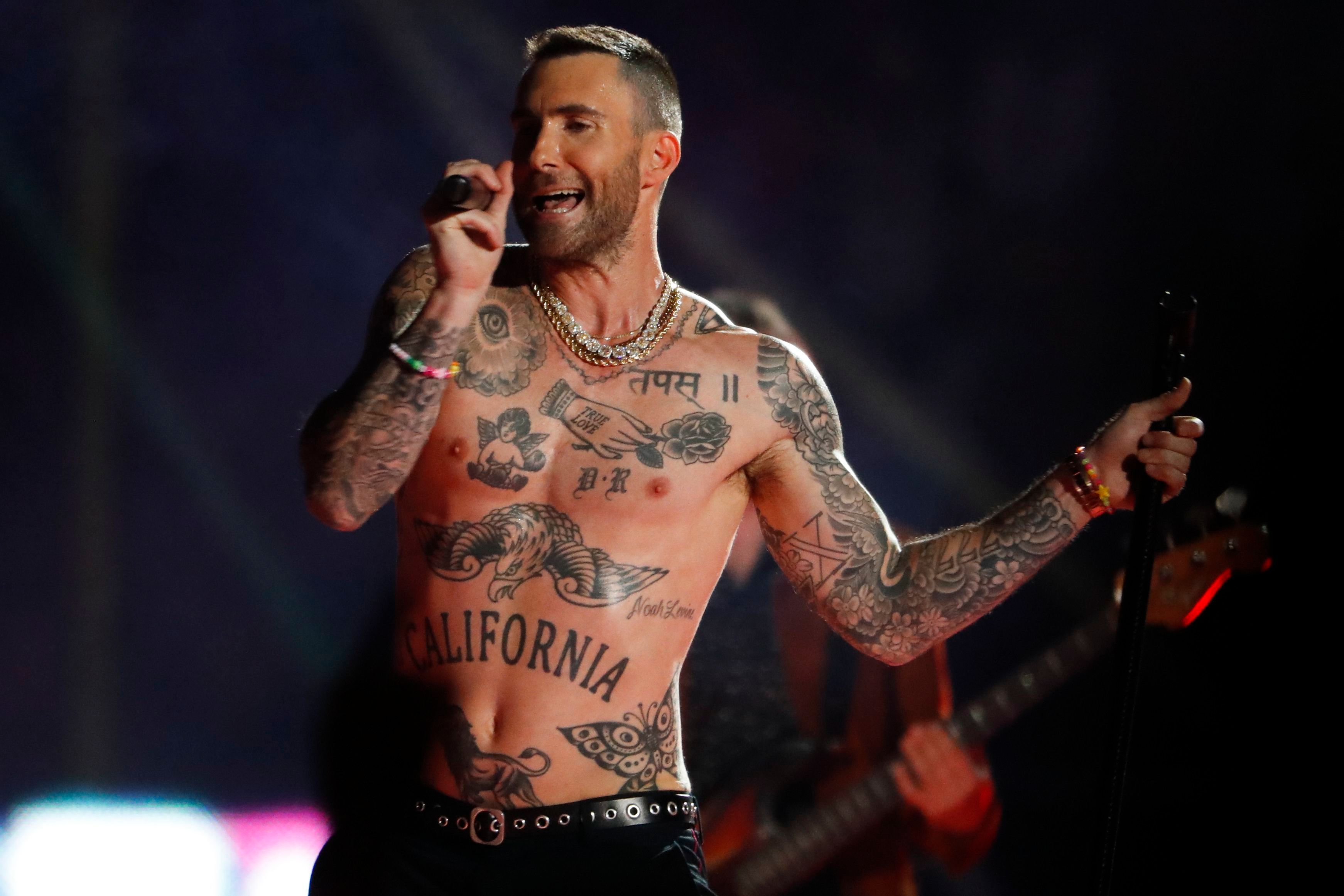 Adam Levine most fit celebrity men