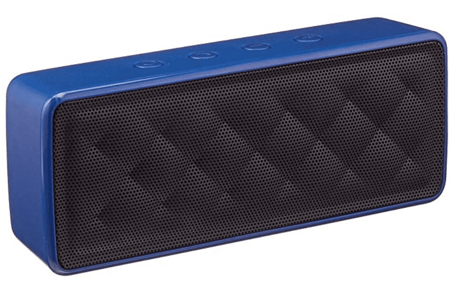 amazon basics portable wireless bluetooth speaker in blue