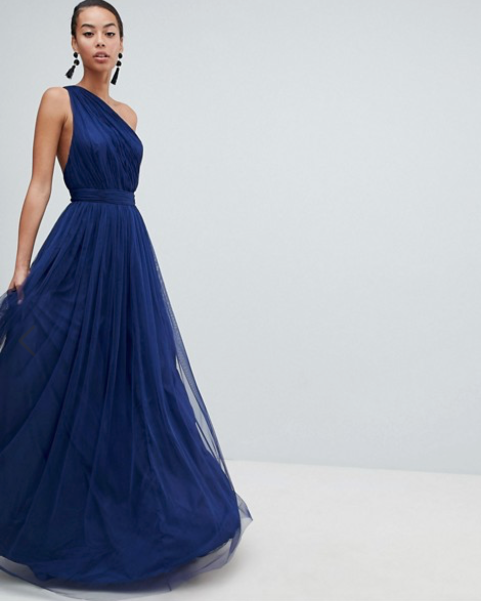 asos one shoulder maxi dress for prom