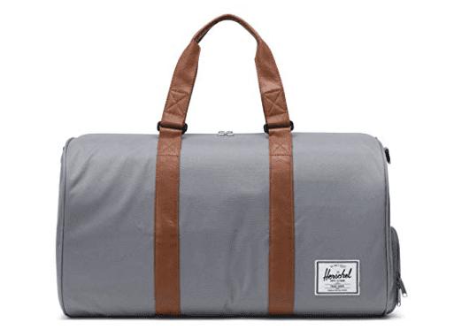 Herschel grey duffle bag
