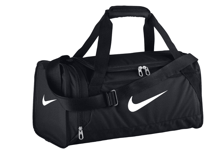 Nike black and white gym bag