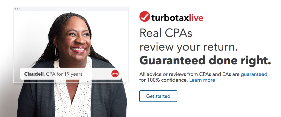 TurboTax offers help from real CPAs