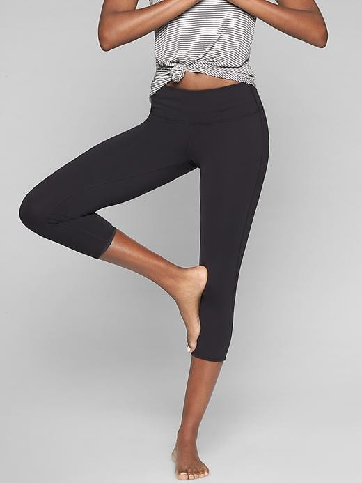Athleta makes the best yoga pants for hot yoga