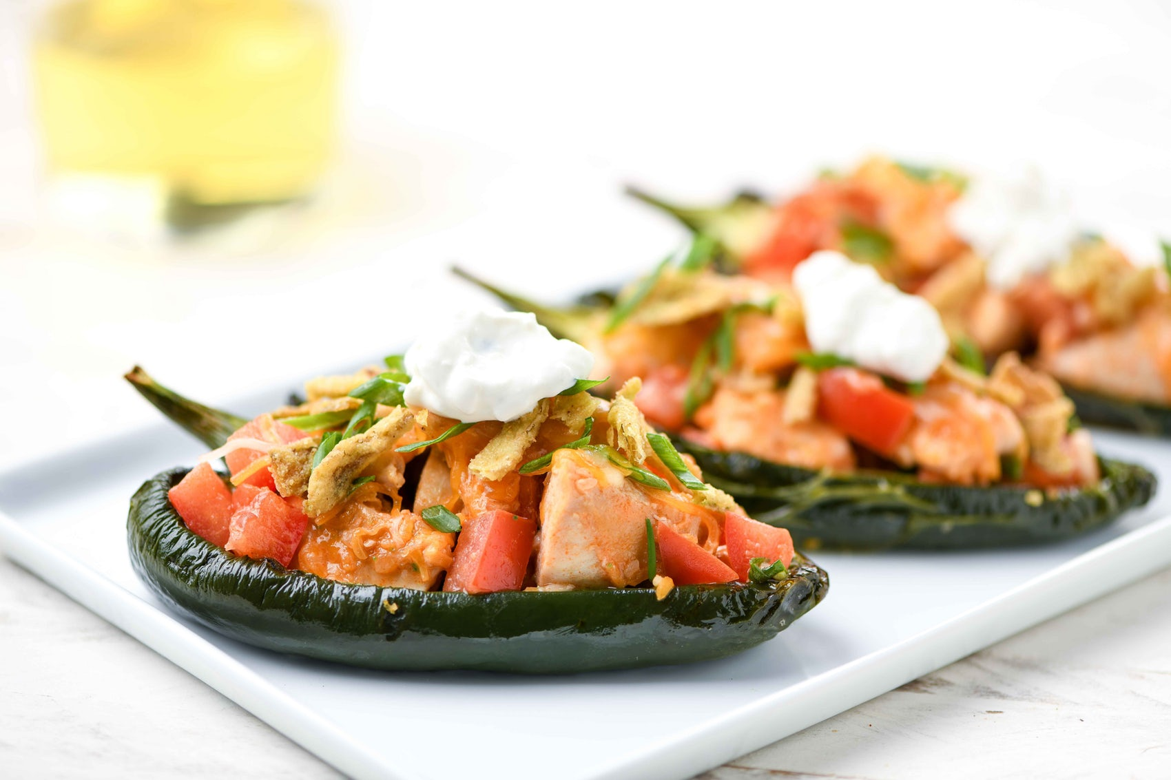 blue cheese buffalo chicken peppers