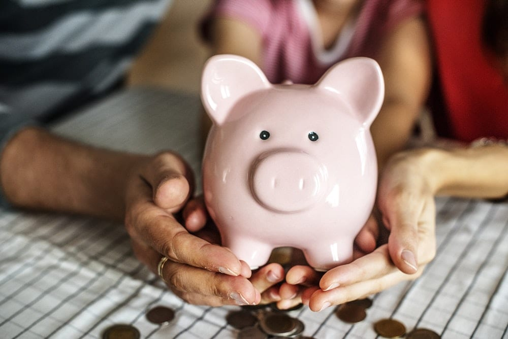 Emergency funds in a piggy bank