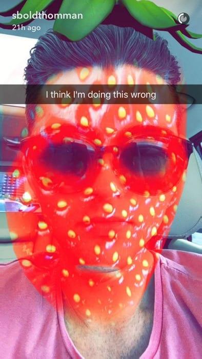 hilarious snapchat fails strawberry