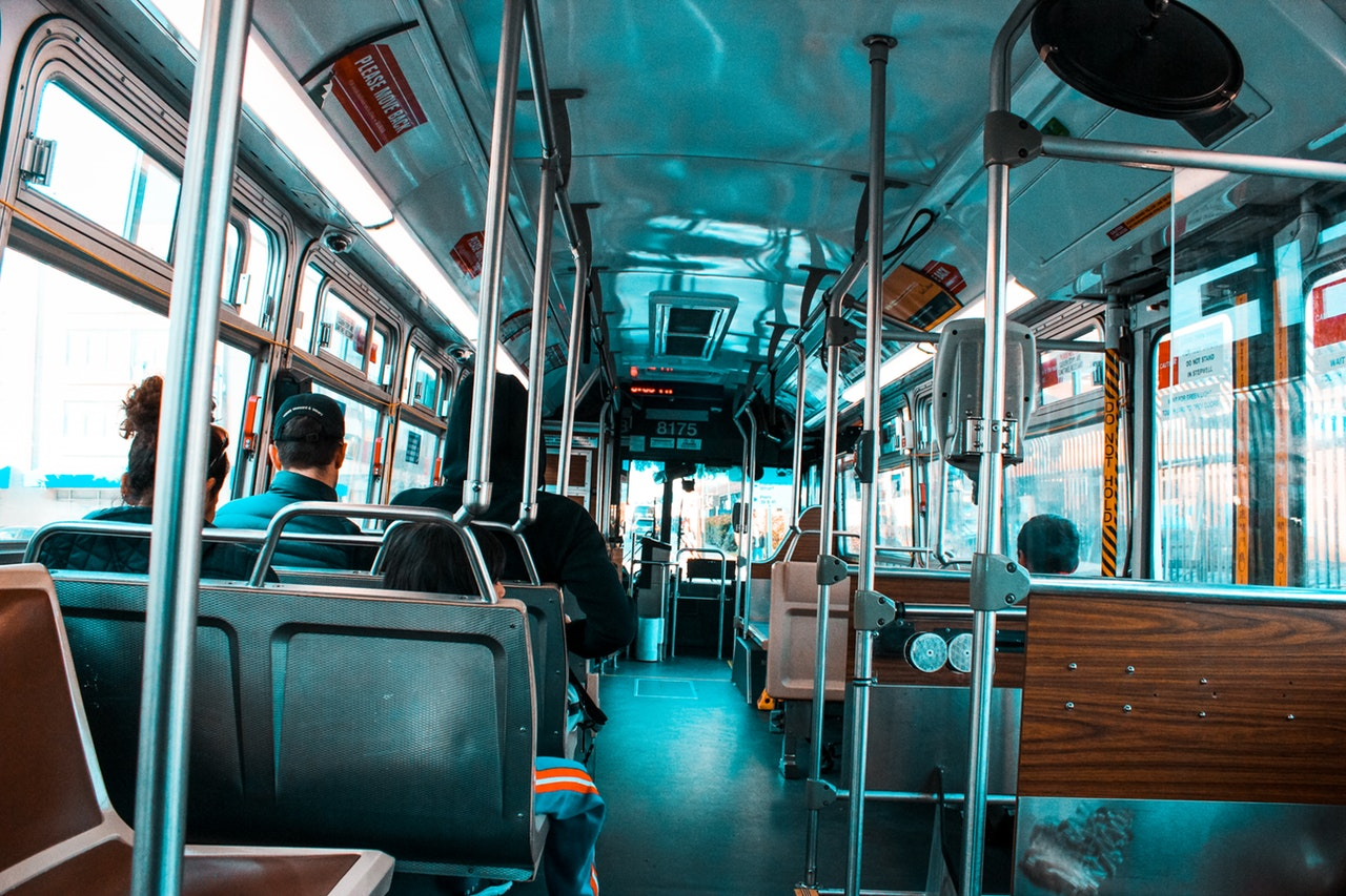 inside a local bus