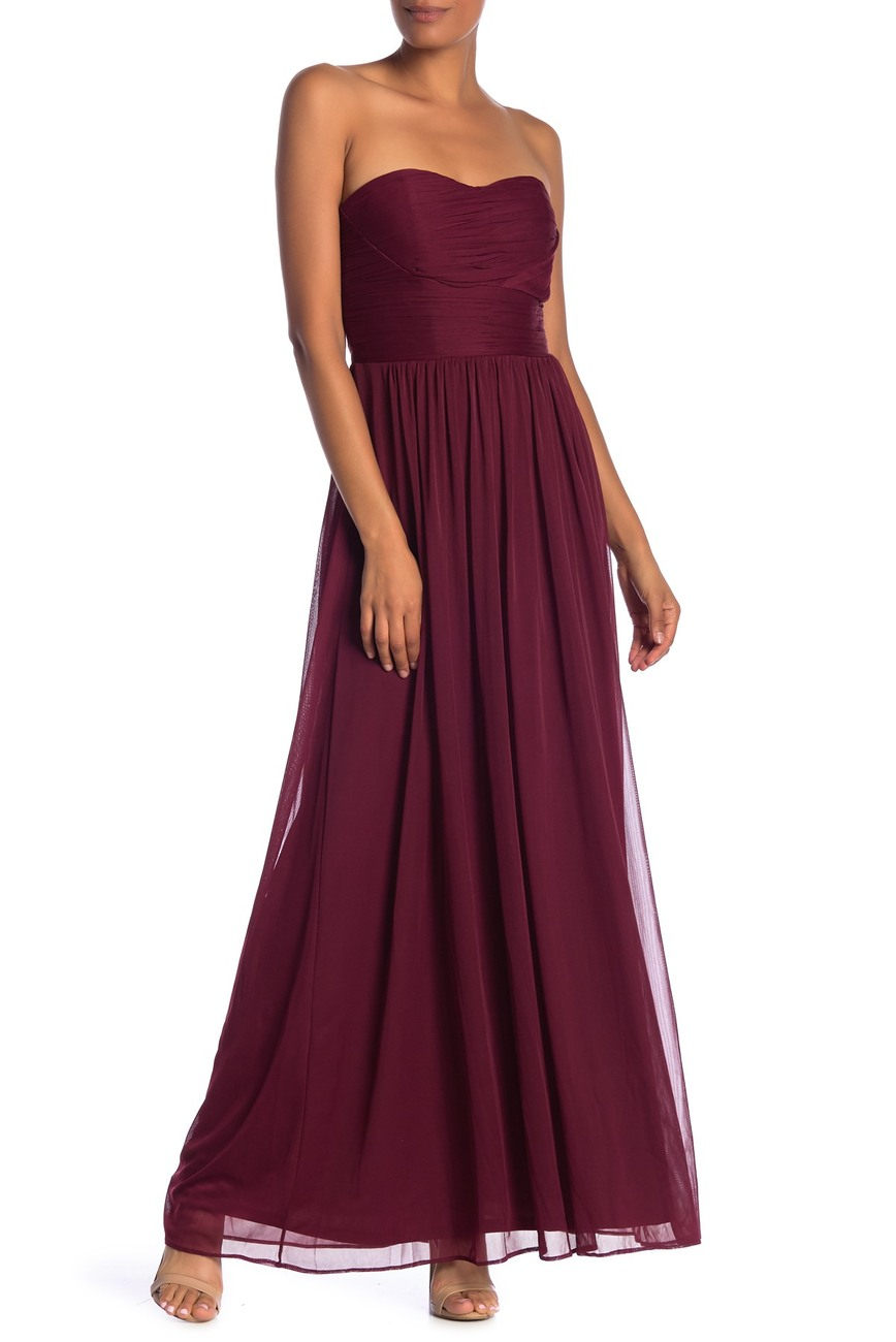nordstrom rack strapless online prom dress
