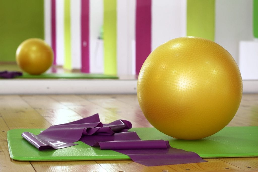 the best exercise balls in workout studio