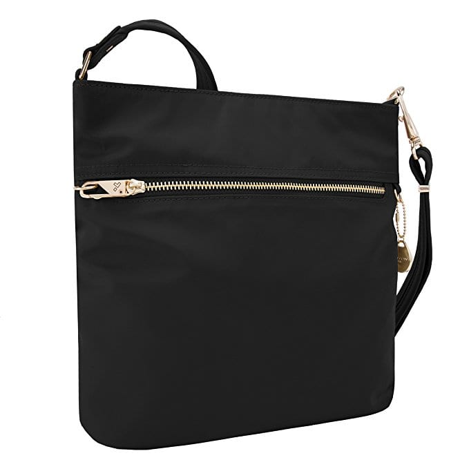 travelon slim crossbody travel purse