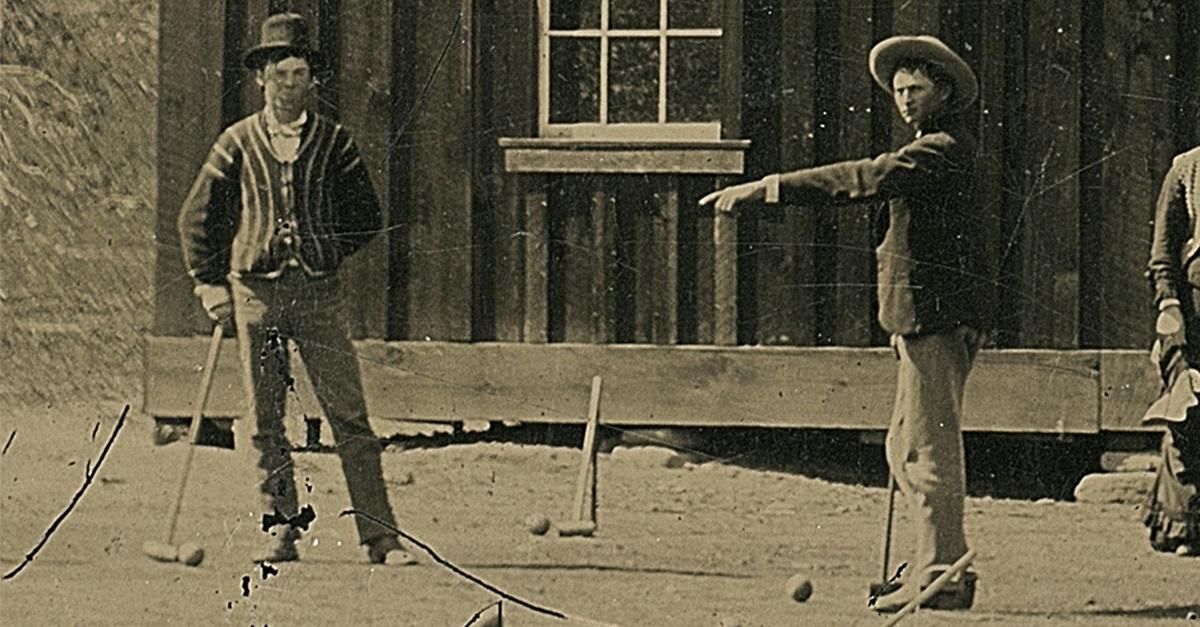 The Regulators play croquet in old photo