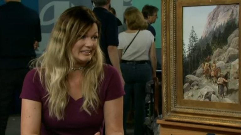 girl takes grandma painting to Antiques Roadshow