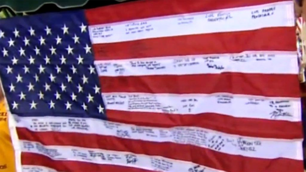 messages on the old flag