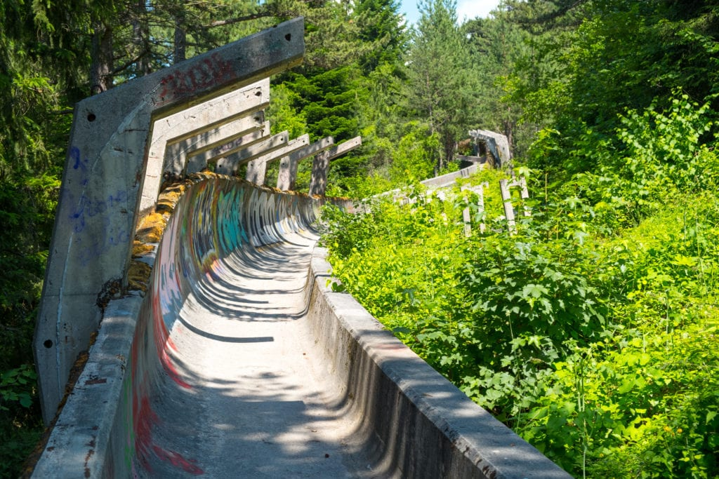 abandoned places 1984 winter olympics bobsleigh track, sarajevo