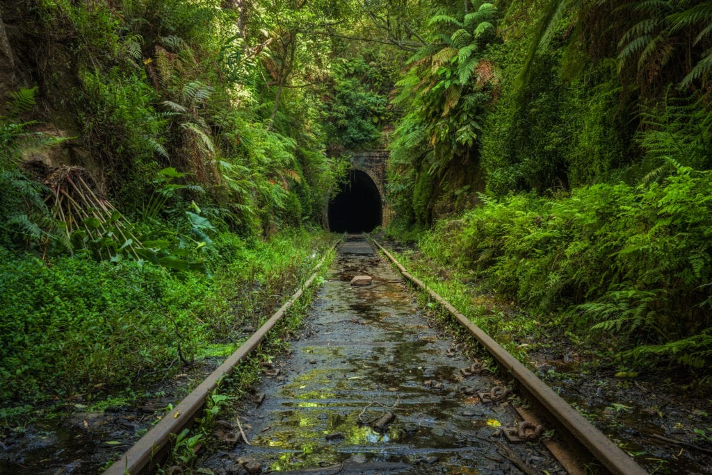 abandoned places helensburgh railway tunnel, australia