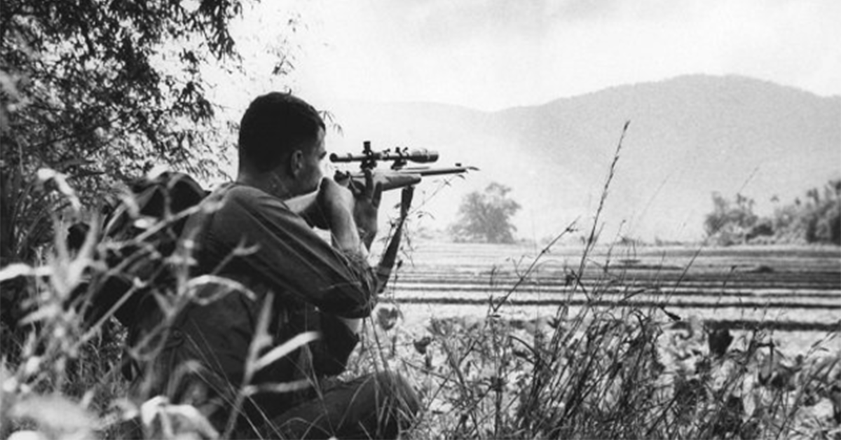 Adelbert F. Waldron among best snipers