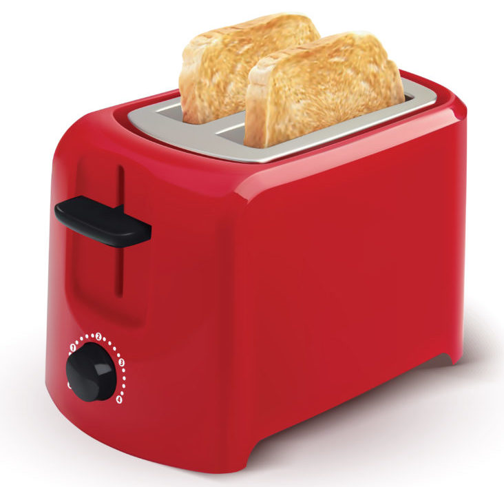 red pop up toaster