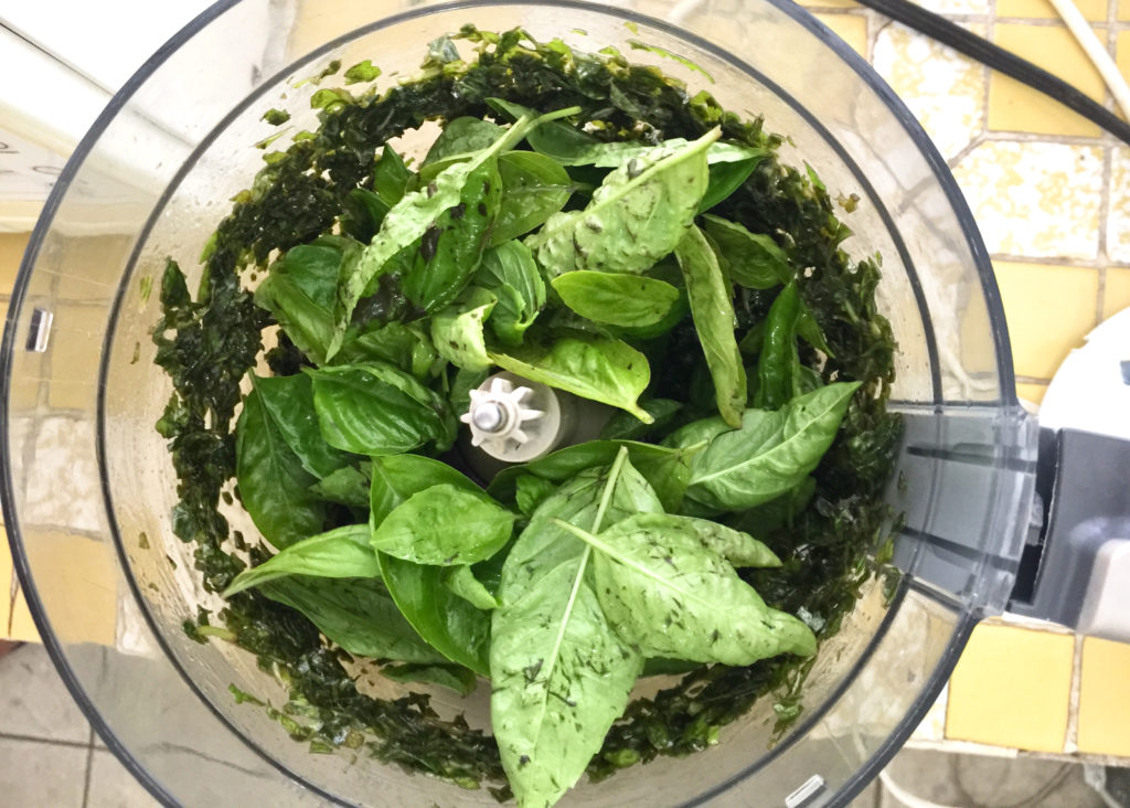 food processor uses pesto