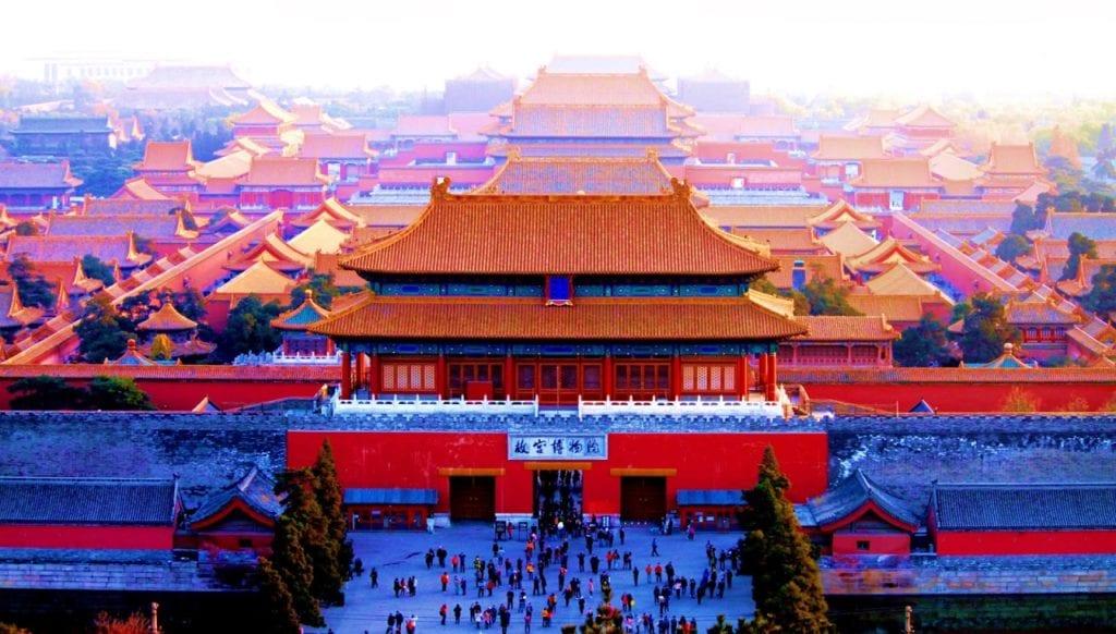 Forbidden City lavish buildings