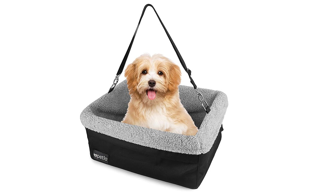 petlo dog booster car seat with soft luxurious fleece