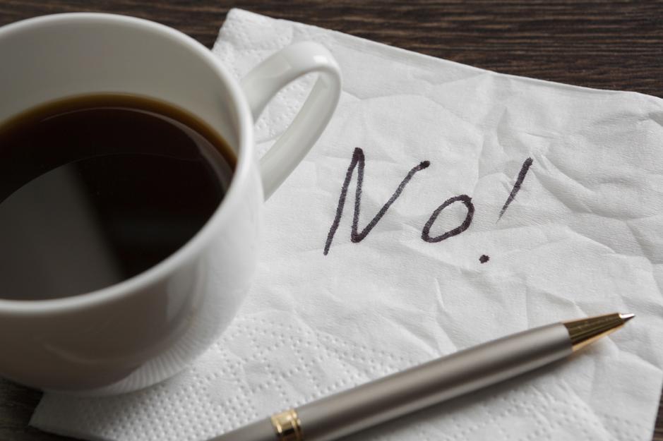 say no to caffeine