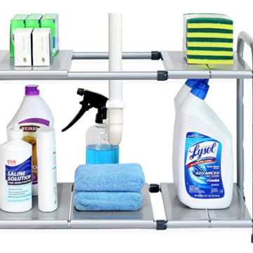 under sink expandable shelf organizer