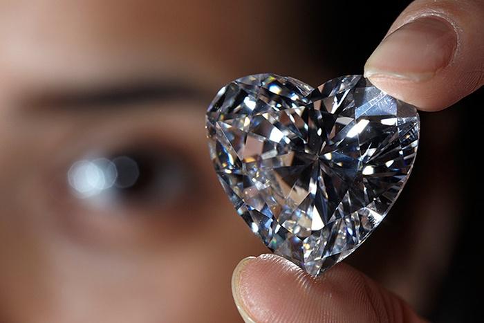 unmounted heart shaped diamond