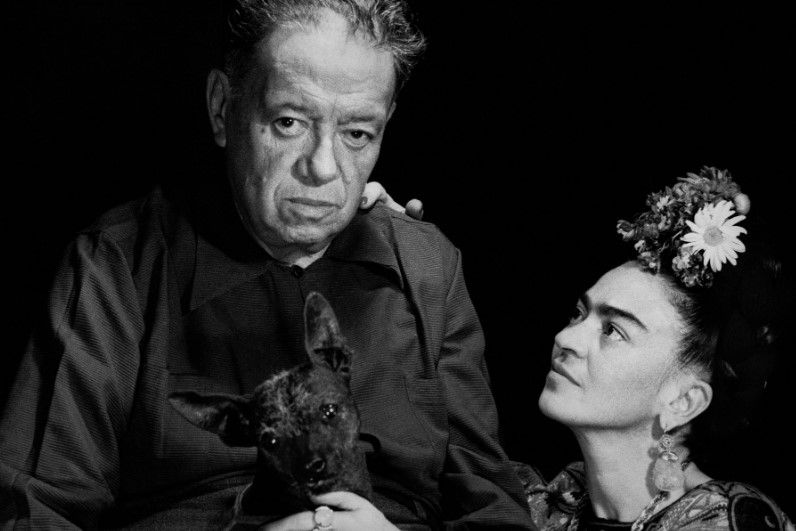 painters Frida Khalo and Diego Riviera