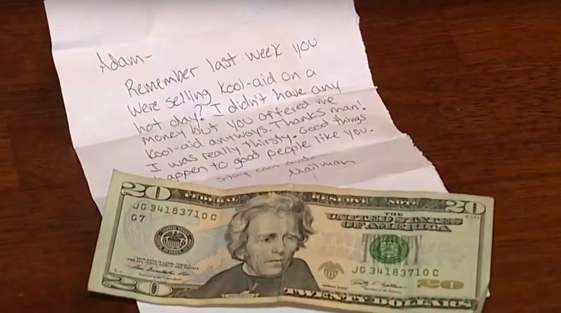 thank you note for Kool-Aid