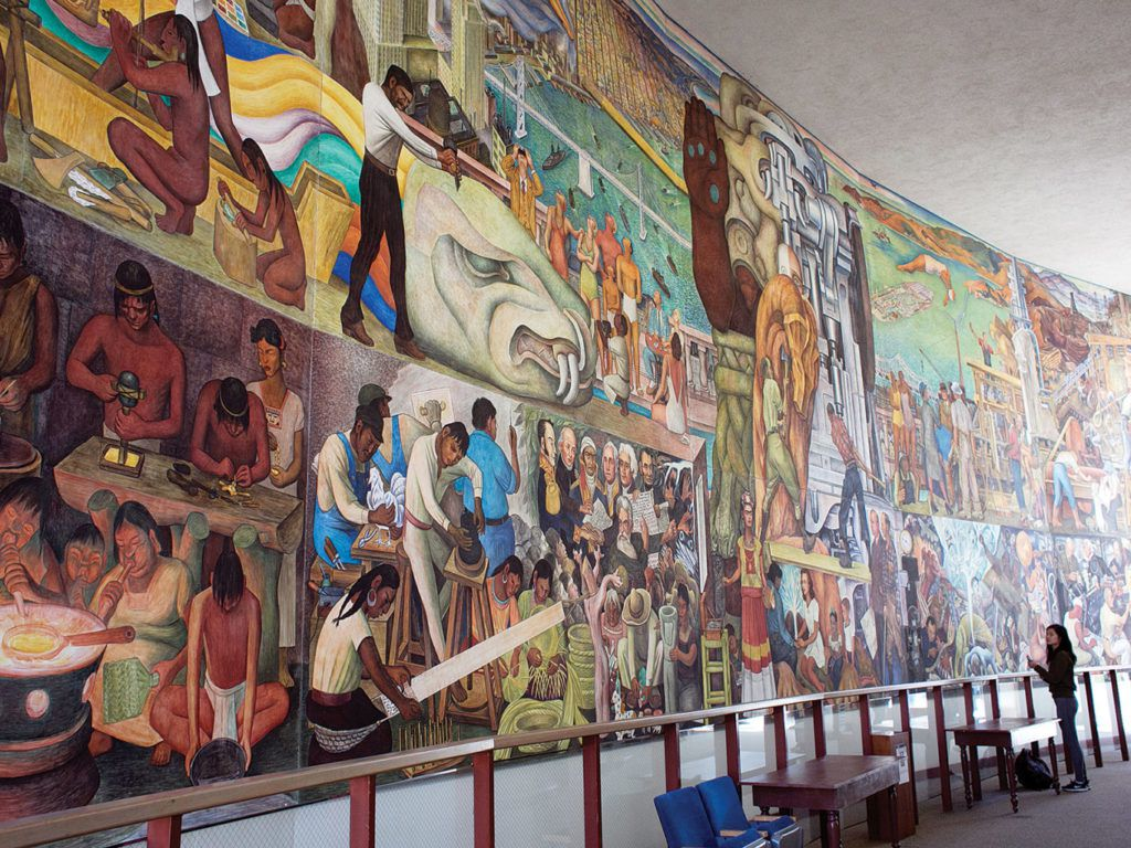 Diego Riviera fresco painting
