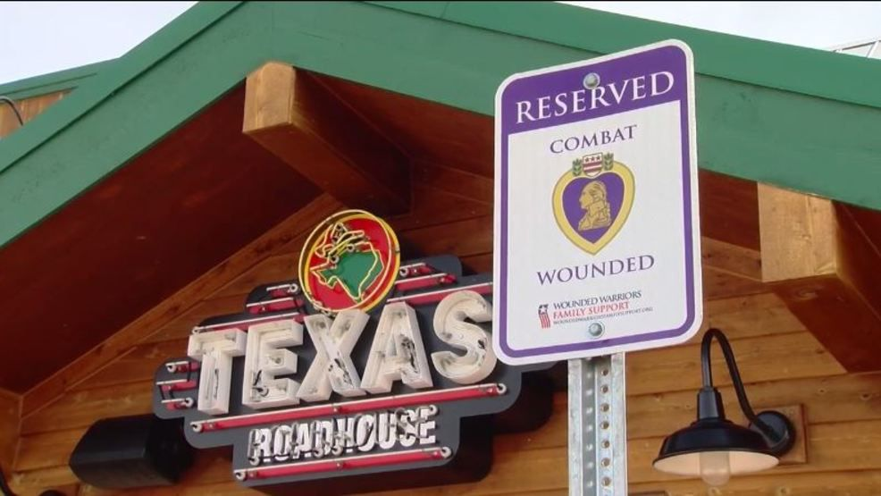 reserved tables and parking for veterans