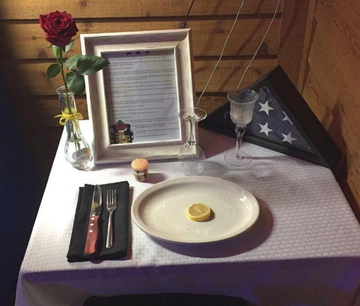 tribute table for slain heroes