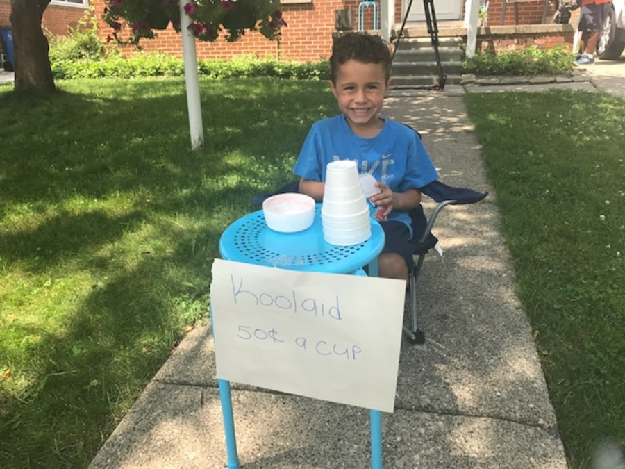 Adam Houssami at his Kool-Aid stall