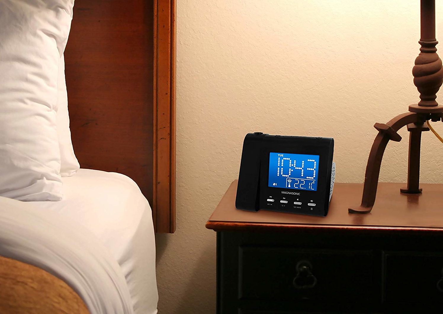 Alarm clock on nightstand