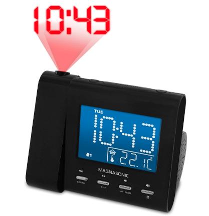 Magnasonic alarm clock
