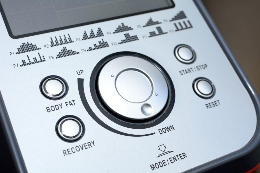Elliptical control panel