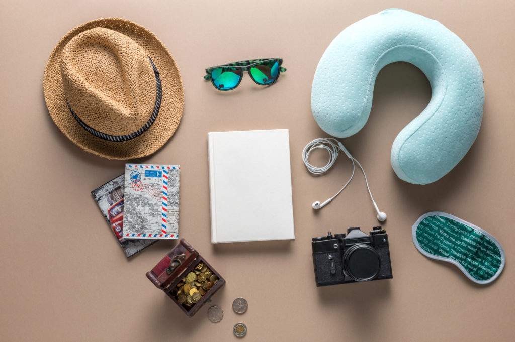 travel items layout