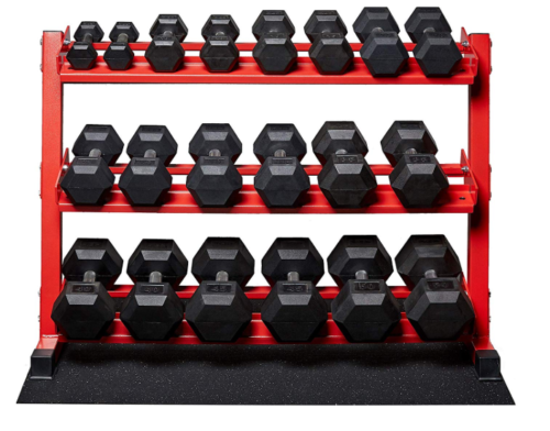 5-50 lb Rep Rubber Hex Dumbbell Set
