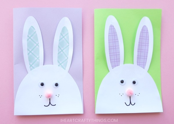 diy bunny easter card