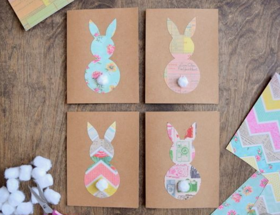 diy bunny easter cards