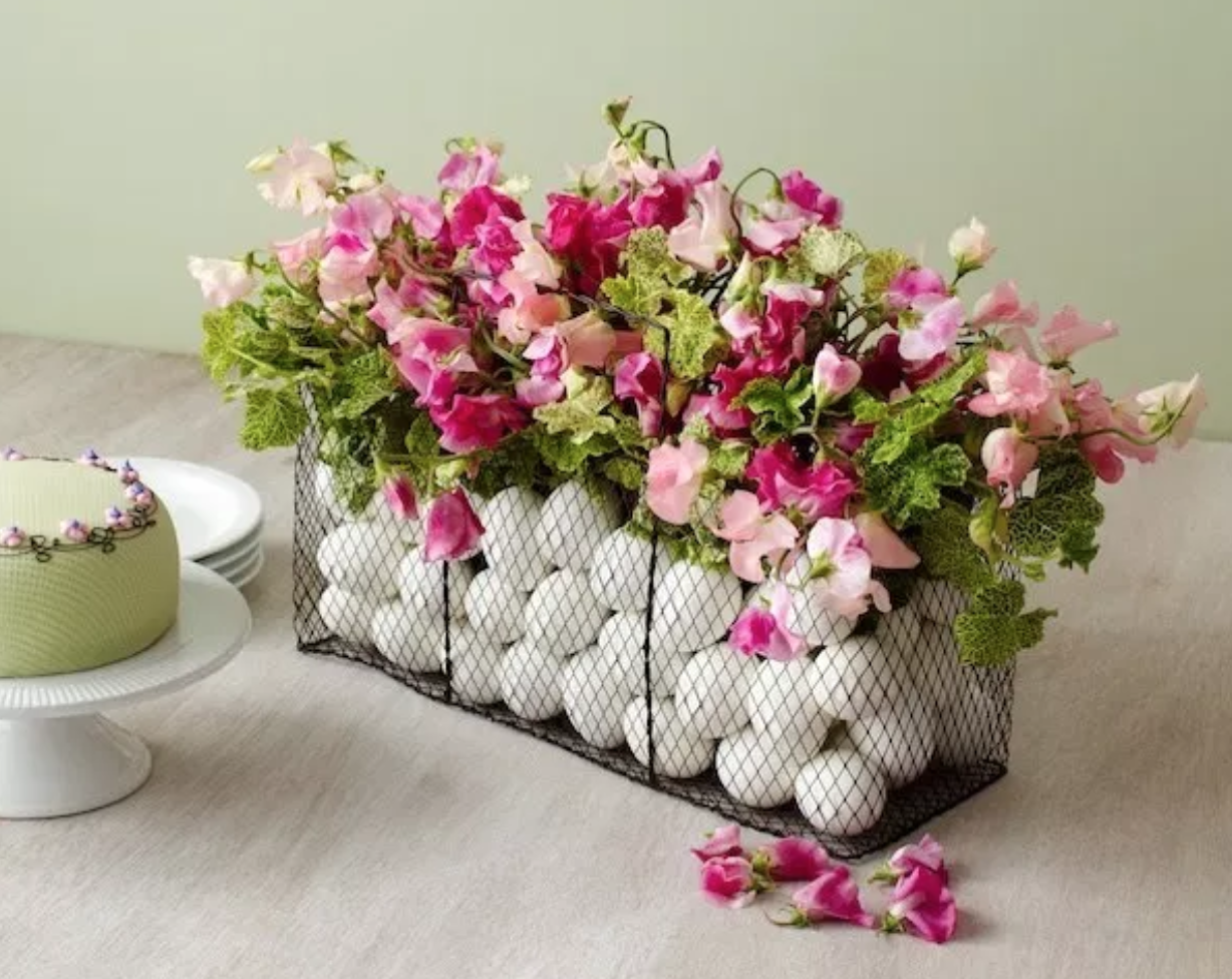 diy easter basket centerpiece