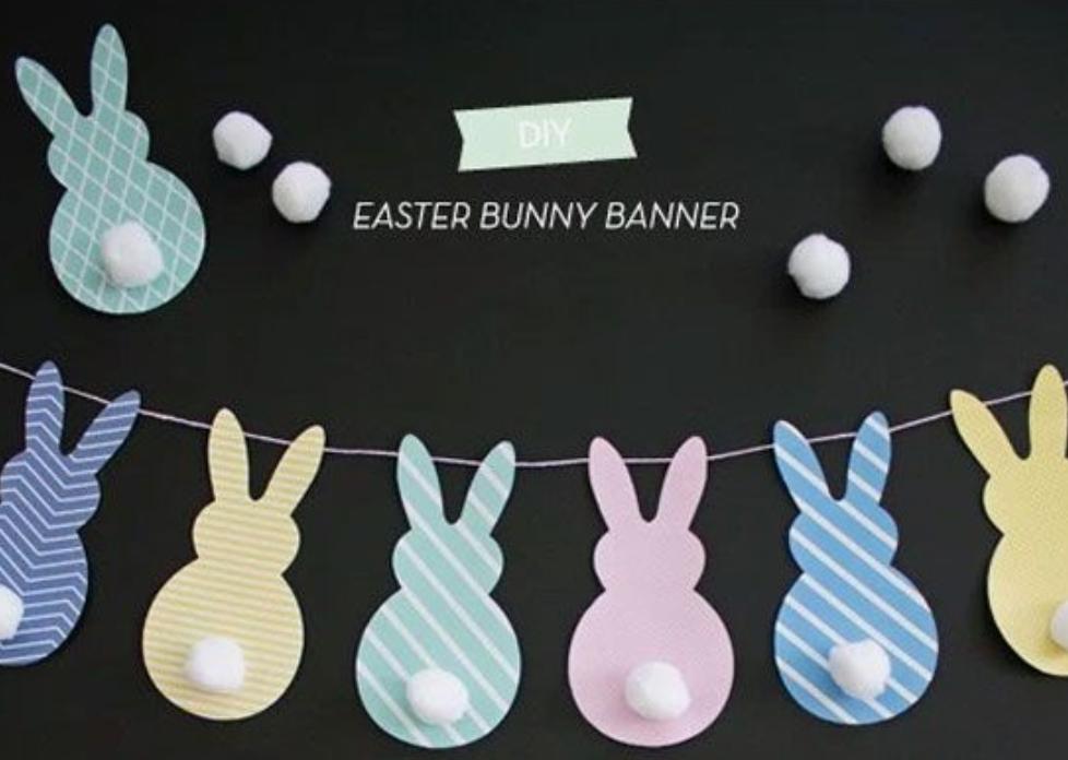 diy easter bunny banner