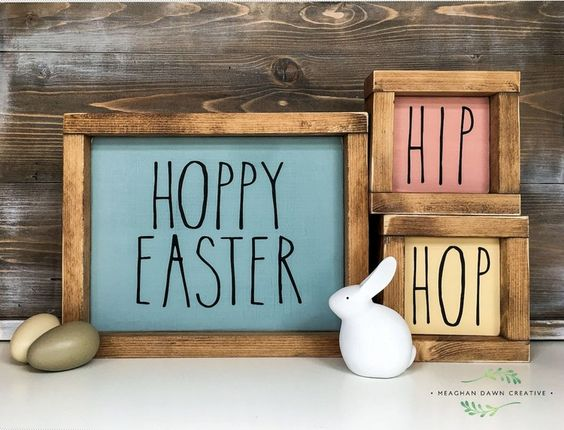 diy easter decorations handpainted signs