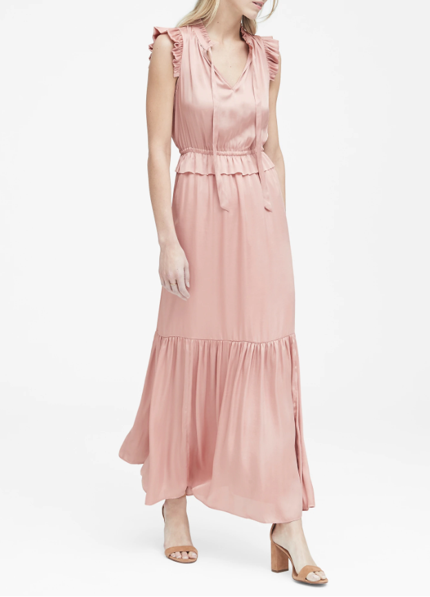 easter dress easter brunch banana republic pink