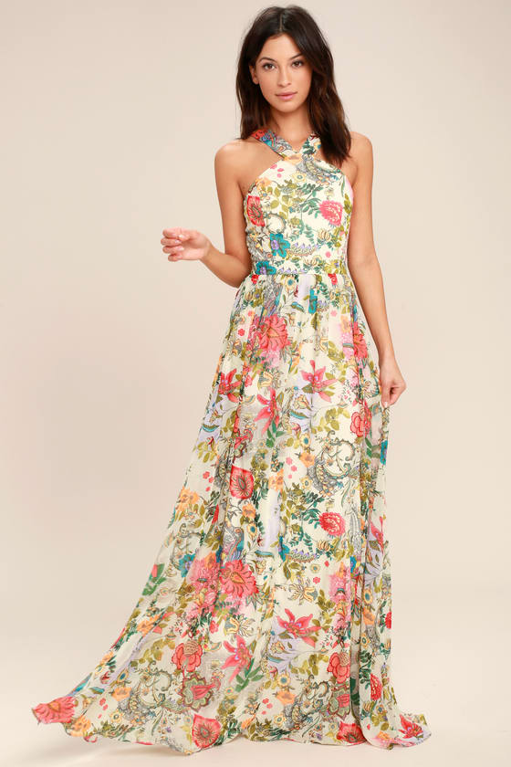 easter dress easter brunch lulus floral maxi dress