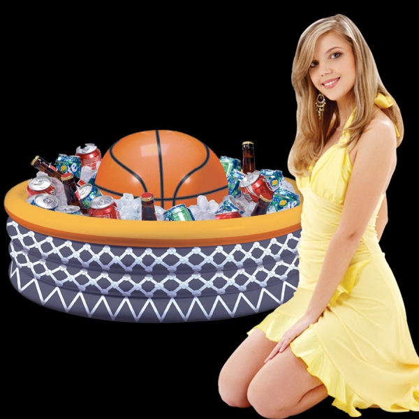 inflatable basketball fan cooler