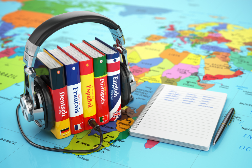 learn a new language headphones books